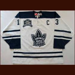 "1998-99 Mats Sundin Toronto Maple Leafs Game Worn Jersey - Alternate - ""Memories & Dreams"" - Team Letter"