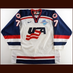 2004 Keith Tkachuk Team USA World Cup of Hockey Game Worn Jersey – Photo Match – World Cup of Hockey Letter
