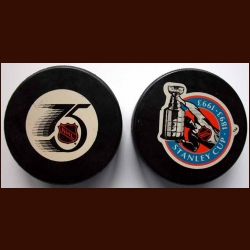 1991-92 & 1992-93 In Glas Co Commemorative Pucks