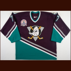"2002-03 Adam Oates Anaheim Mighty Ducks Stanley Cup Final Game Worn Jersey – ""2003 Stanley Cup Finals"" - Photo Match"