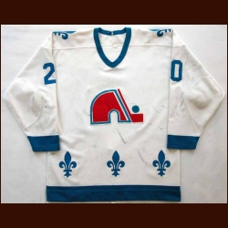 Early 1980's Anton Stastny Nordiques Game Worn Jersey