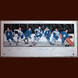Toronto Maple Leafs Limited Edition Lithograph - Autographed By 7 Hall of Famers