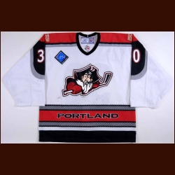 2006-07 Dov Grumet-Morris Portland Pirates Game Worn Jersey – AHL Letter – Harvard University Alum