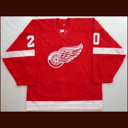 2002-03 Luc Robitaille Red Wings Game Worn Jersey - Team Letter