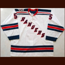 "2000-01 Dale Purinton New York Rangers Game Worn Jersey - Rookie - ""75-year anniversary"" - Team Letter"