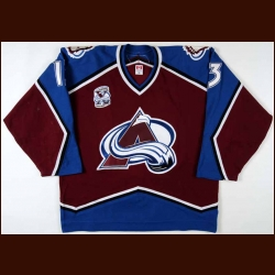 "2005-06 Dan Hinote Colorado Avalanche Game Worn Jersey - ""10-year Anniversary"" - Team Letter"