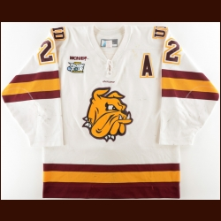 "2010-11 Mike Connolly University of Minnesota-Duluth Game Worn Jersey – ""2011 Frozen Four"" - 1st UMD National Championship - Mike Seiler MVP Award - Photo Match"