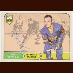 1968-69 OPC Bill White Los Angeles Kings Autographed Card – Deceased