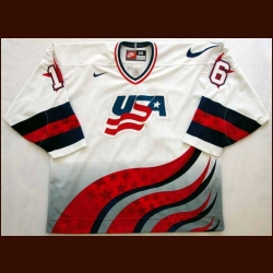 1996 Pat Lafontaine Team USA World Cup Authentic Jersey