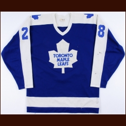 1980-81 Bill McCreary Toronto Maple Leafs Game Worn Jersey – Rookie – Gretzky Hit - Photo Match - Video Match