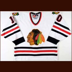 1996-97 Tony Amonte Chicago Blackhawks Game Worn Jersey – Team Letter