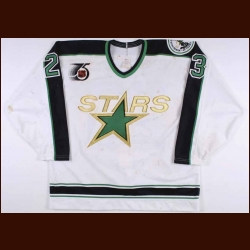 1991-92 Brian Bellows Minnesota North Stars Game Worn Jersey – Brian Bellows Letter