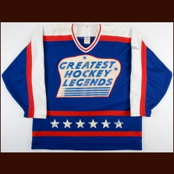 Early 1990's Larry Robinson Greatest Hockey Legends Game Worn Jersey