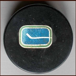 Vancouver Canucks Old Style Logo Puck