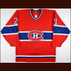 Mid 1980's Guy Carbonneau Montreal Canadiens Game Worn Jersey