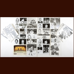 Los Angeles Kings Autographed Group of (110) – Includes Hall of Famers, Deceased and 1976-77 Team Photo