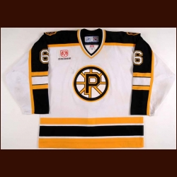 2006-07 Mark Stuart Providence Bruins Game Worn Jersey – AHL Letter - Colorado College Alum