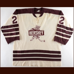 1972-73 Jim Wiley & 1973-74 Dennis Owchar Hershey Bears Game Worn Jersey – Rookie - Calder Cup Championship Season - Photo Match