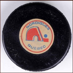 Quebec Nordiques Old Style Logo Puck