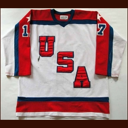 1984 Scott Bjugstad Pre-Olympic Team USA Game Worn Jersey