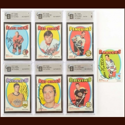 1971-72 Topps Autographed Card Group of (30) – Includes Hall of Famer and Deceased – Most GAI Certified