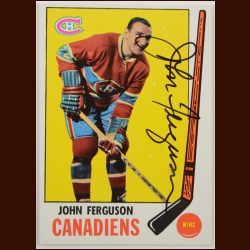 1969-70 Topps John Ferguson Montreal Canadiens Autographed Card – Deceased