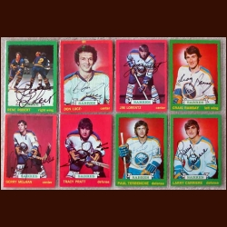 1973-74 Autographed Buffalo Sabres Card Group of 8