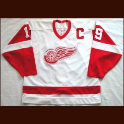 1987-89 Steve Yzerman Red Wings Game Worn Jersey - Photo Matched
