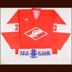 1995-96 Igor Mishukov Moscow Spartak Wings Game Worn Jersey