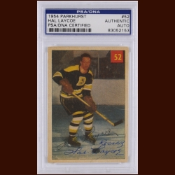 Hal Laycoe 1954 Parkhurst – Boston Bruins – Autographed – Deceased – PSA/DNA