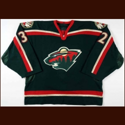 2006-07 Niklas Backstrom Minnesota Wild Game Worn Jersey - Rookie - Jennings Trophy - Roger Crozier Award - Team Letter