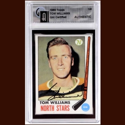 1969-70 Topps #128 Tom Williams North Stars Autographed Card - Deceased - GAI Certified