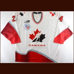 1996 Lyle Odelein Team Canada Pre-Tournament World Cup of Hockey Game Worn Jersey – NHLPA Letter