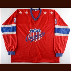 1970-71 Serge Aubry Rochester Americans Game Worn Jersey - Photo Match
