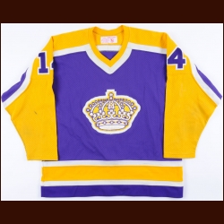 1981-82 Greg Terrion Los Angeles Kings Game Worn Jersey - Photo Match