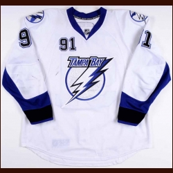 2010-11 Steven Stamkos Tampa Bay Lightning Game Worn Jersey - Photo Match