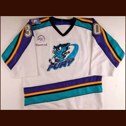 "2000-01 Scott Myers Muskegon Fury Game Worn Jersey - ""UHL 10-year Anniversary"""