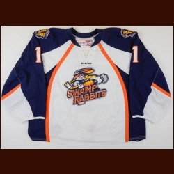 "2017-18 Chris Nell Greenville Swamp Rabbits Game Worn Jersey – ""30-year Anniversary"" – Team Letter"