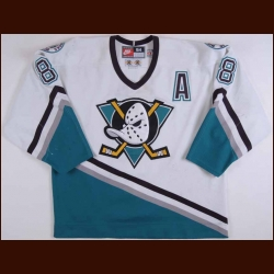 "1998-99 Teemu Selanne Anaheim Mighty Ducks Game Worn Jersey - Maurice ""Rocket"" Richard Trophy"
