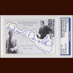 Herb Brooks Autographed Card - The Broderick Collection - Deceased