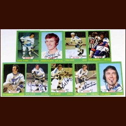 1973-74 Autographed St. Louis Blues Card Group of 9