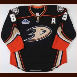 "2011-12 Teemu Selanne Anaheim Ducks Game Worn Jersey – ""NHL Premiere 2011"" - Photo Match – Team Letter"