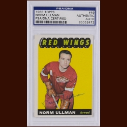 Norm Ullman 1965 Topps – Detroit Red Wings – Autographed – PSA/DNA