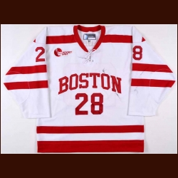 2011-12 Sahir Gill Boston University Game Worn Jersey – Alternate
