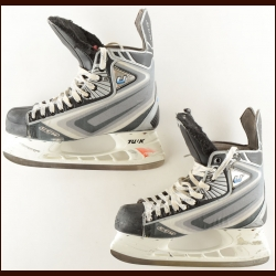 Jarome Iginla Calgary Flames CCM Game Worn Skates – Worn in 2008-09 – Photo Match – Team Letter