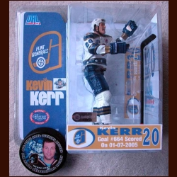 Kevin Kerr Record Breaking McFarlane Figurine And Puck