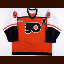 1999-00 Mark Recchi Philadelphia Flyers Game Worn Jersey