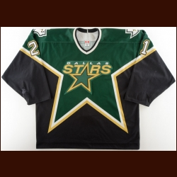 2005-06 Junior Lessard Dallas Stars Game Worn Jersey – Rookie - NHL Debut - 1st NHL Goal & Point
