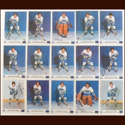 1972-73 Royal Bank Vancouver Canucks Autographed Group of (15) – Includes Deceased