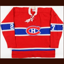 1972-73 Frank Mahovlich Montreal Canadiens Game Worn Jersey - Stanley Cup Season - Possible Stanley Cup Winning Jersey - Photo Match